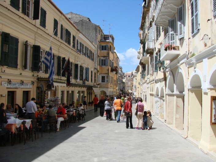 corfu town historical buildings